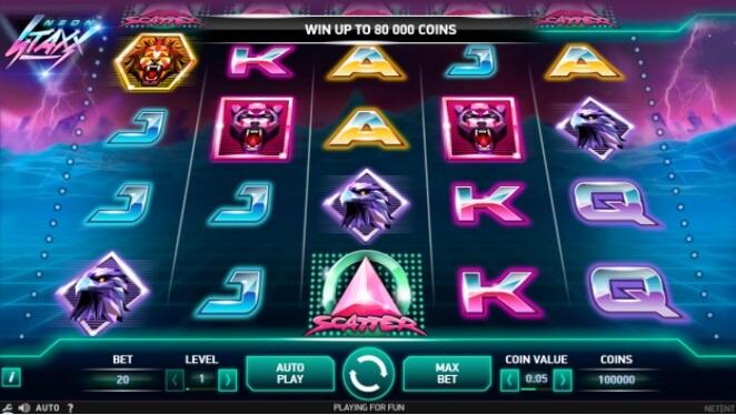 juega en la slot neo staxx en 888 casino