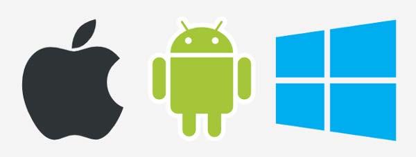 Apple Android Windows Logos