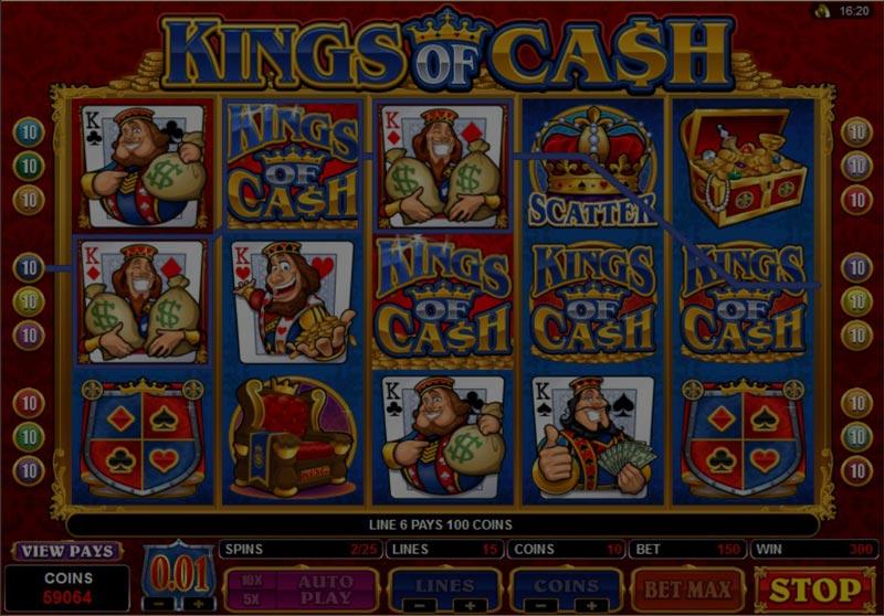 Captura de pantalla de King Of Cash tragaperras de Microgaming