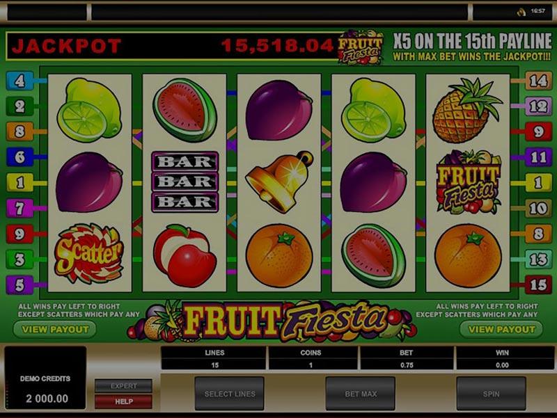 Captura de pantalla de Fruit Fiesta tragaperras de Microgaming
