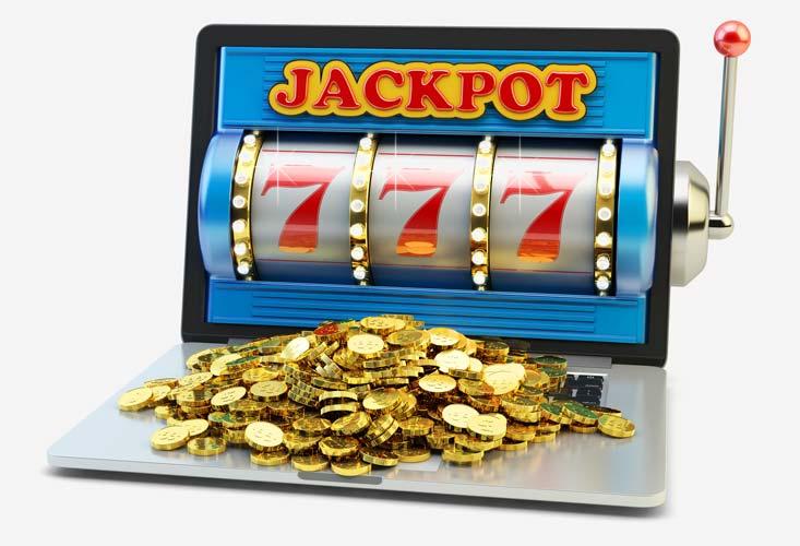 Jackpot ganó en una computadora portátil